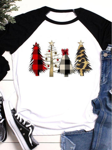 Christmas Trees Vintage T-shirt