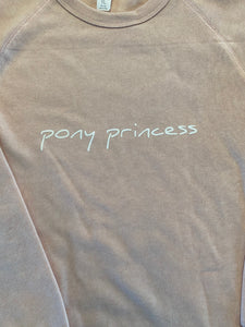 Adorable Pony Princess Youth Pullover Sweatshirt NO HOOD Pink