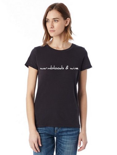 1 - Warmbloods and Wine T-Shirt in Black