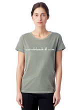 Load image into Gallery viewer, Warmbloods and Wine T-Shirt in Green