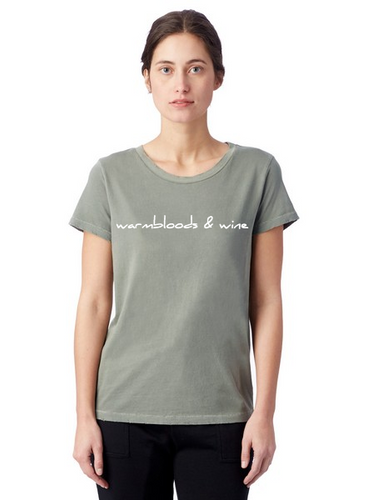 Warmbloods and Wine T-Shirt in Green