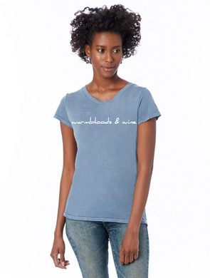 Warmbloods and Wine T-Shirt in Soft Blue