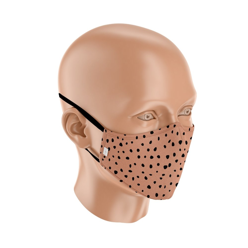 "Adult ""Dalmatian Spots"" D15 Filter Triple Layer Adjustable Face Mask - curAtiv Jewellery"
