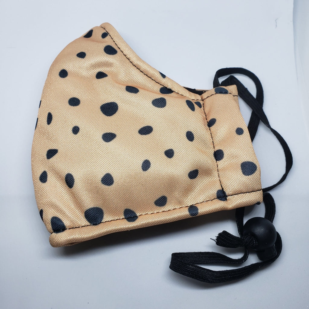 "curAtiv proudly gives you Adult ""Dalmatian Spots"" D15 Filter Triple Layer Adjustable Face Mask Mask."
