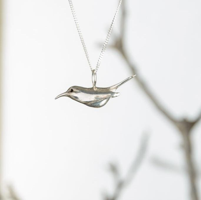curAtiv proudly gives you Bee-Eater - Silver Mini Sculpture Pendants.