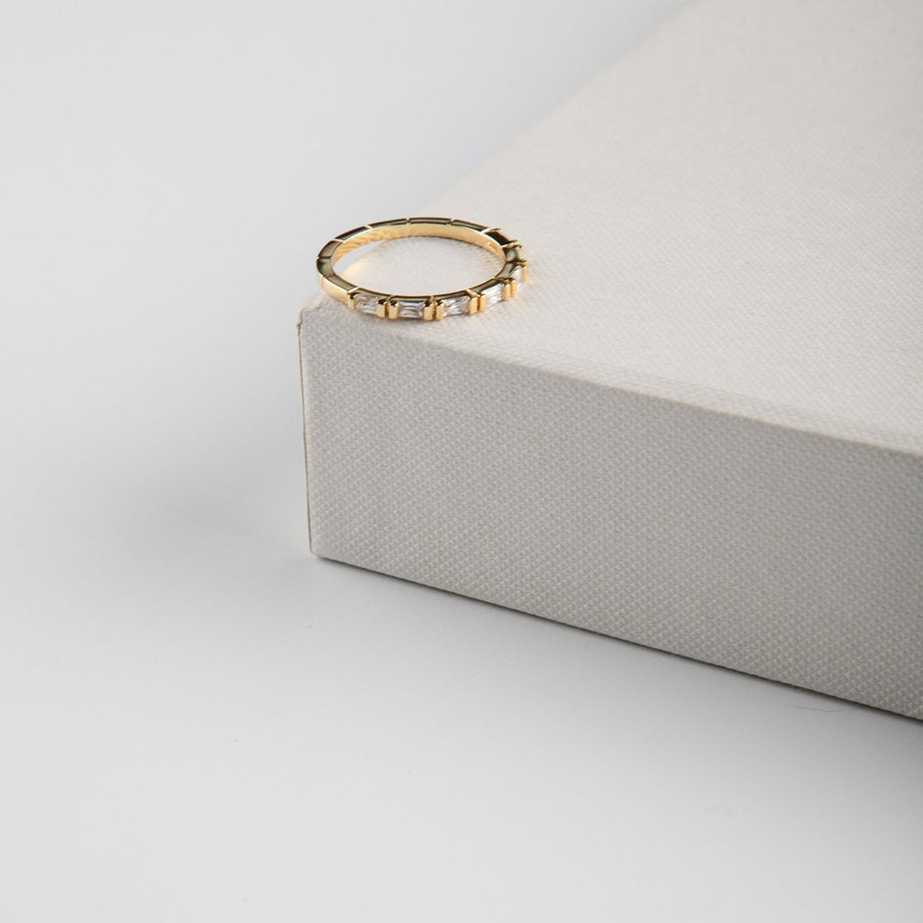 curAtiv proudly gives you Lucca Gold Plated and Cubic Zirconia Ring Ring.