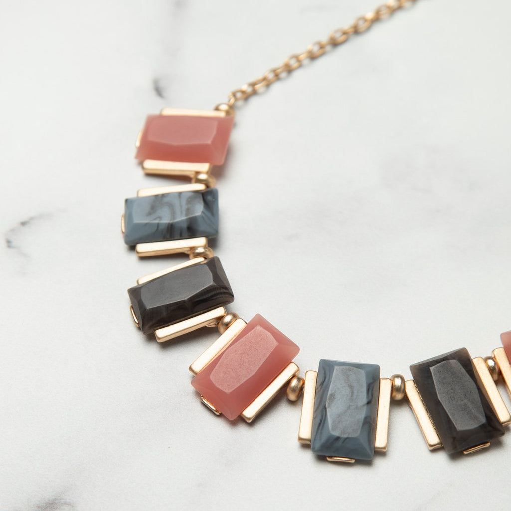 curAtiv proudly gives you Quincy Resin Statement Necklace Necklaces.