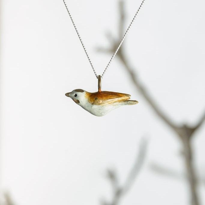 curAtiv proudly gives you Sparrow - Brown Mini Sculpture Pendants.