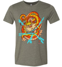 Dragon-snarf: Fitted T-Shirt (Soft)