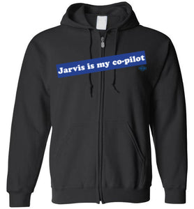 Jarvis is my co-pilot: Full Zip Hoodie – Retro Rags Limited