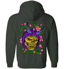 Skelly Hannya: Full Zip Hoodie (BACK)