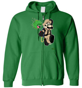 Slimed Ghost Bros.: Full Zip Hoodie