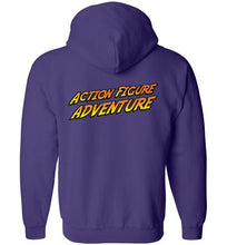 Action Figure Adventure: Full Zip Hoodie (Back)