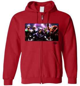 Evil Warriors: Full Zip Hoodie