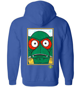 Squidish Rex: Full Zip Hoodie (BACK)