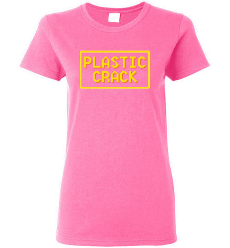 Plastic Crack: Ladies T-Shirt