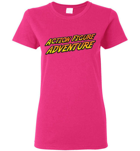 Action Figure Adventure: Ladies T-Shirt
