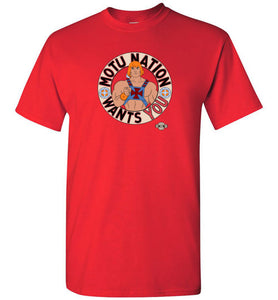 MOTU Nation Want's YOU: Tall T-Shirt