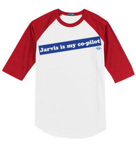 Jarvis is my co-pilot: 3/4 Sleeve Jersey