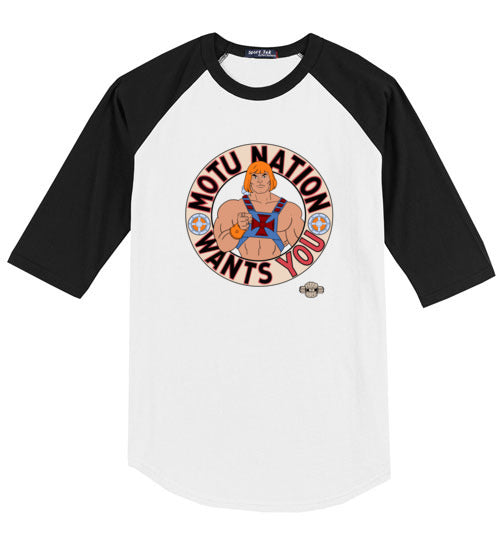 MOTU Nation Want's YOU: 3/4 Sleeve Jersey