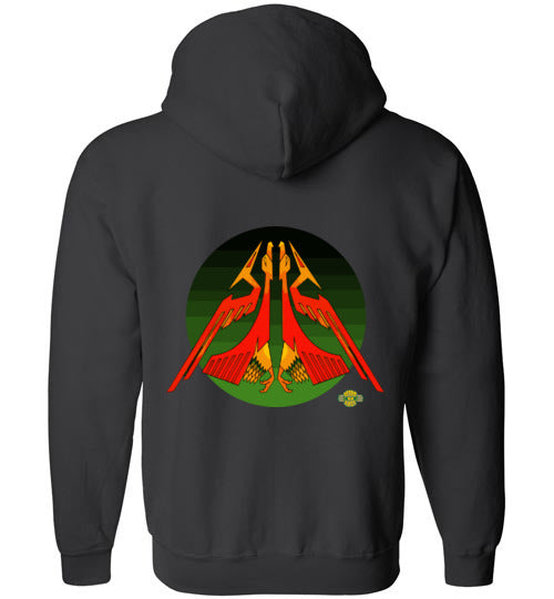 Raider of Wind v2: Full Zip Hoodie (Back)