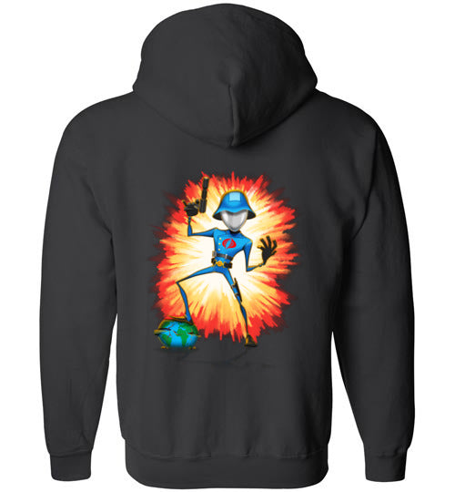 Cobra in Command: Full Zip Hoodie (BACK)