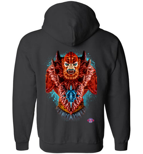 Master of Beasts: Full Zip Hoodie (Back)