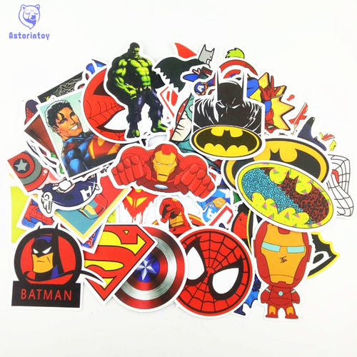 50pcs Super Hero Stickers