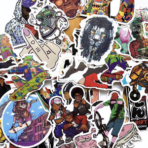 Hip Hop Rap Street Style Decals Collection (50pcs/lot)