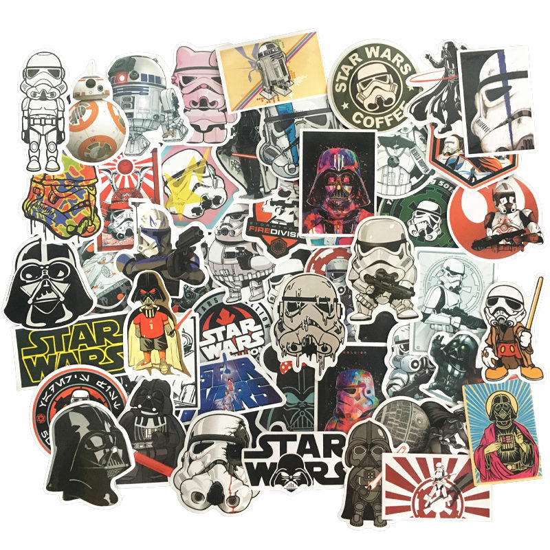 50pcs Star Wars Decals Waterproof Stickers
