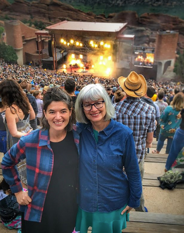 Annabell and her mom at Red Rocks