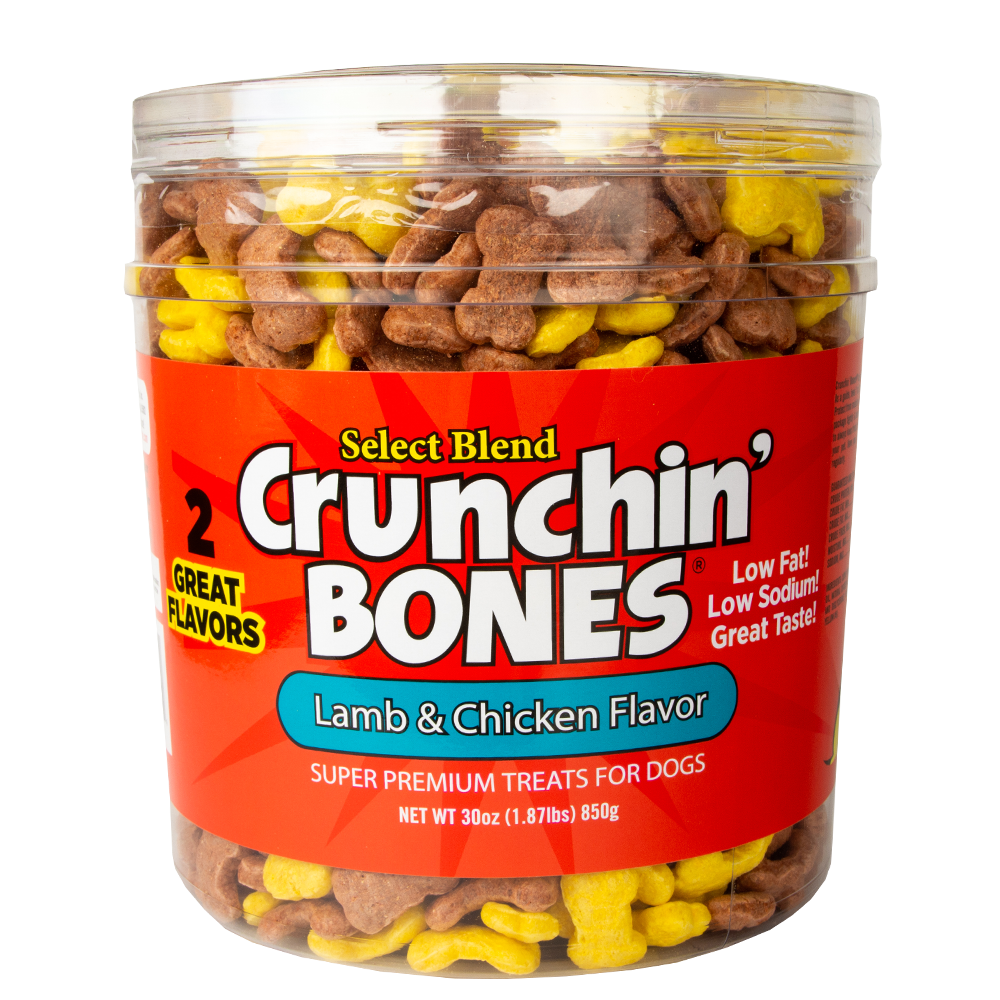 Crunchin' Bones Lamb Meal & Rice with Chicken & Rice Puffed Treats