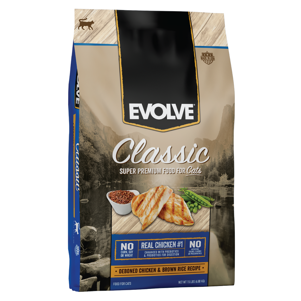 Evolve Classic Chicken & Brown Rice Recipe Cat Food