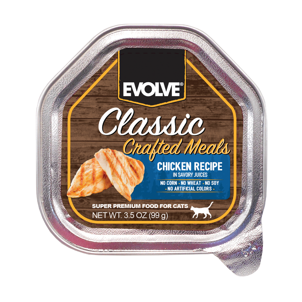 Evolve Classic Crafted Meals Chicken Recipe Cat Food