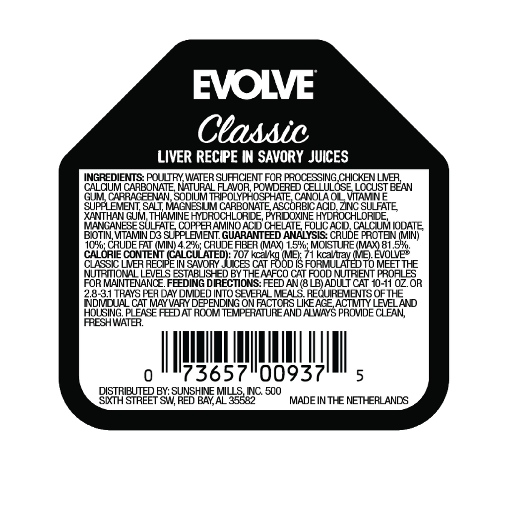 Evolve Classic Crafted Meals Liver Recipe Cat Food