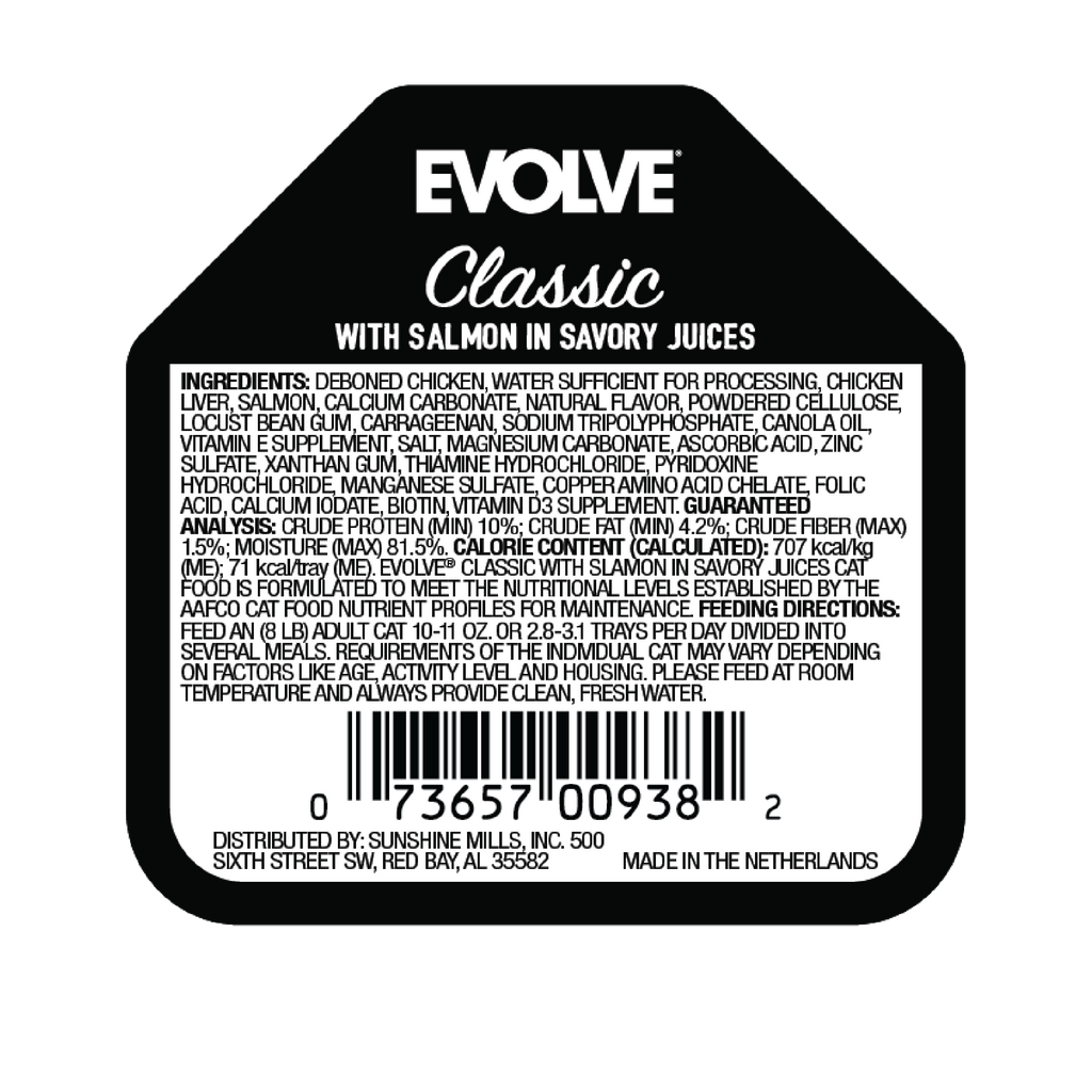 Evolve Classic Crafted Meals with Salmon Cat Food