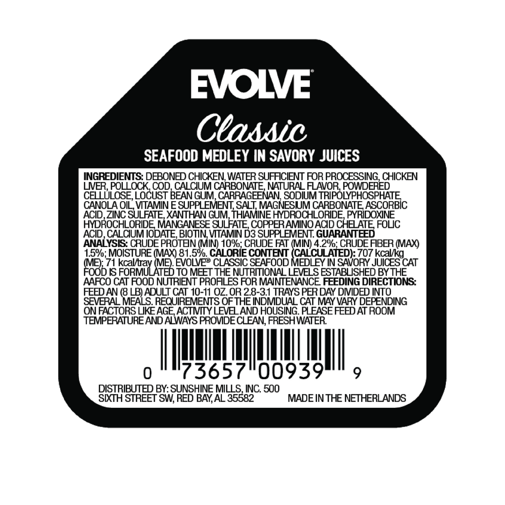 Evolve Classic Crafted Meals Seafood Medley Cat Food