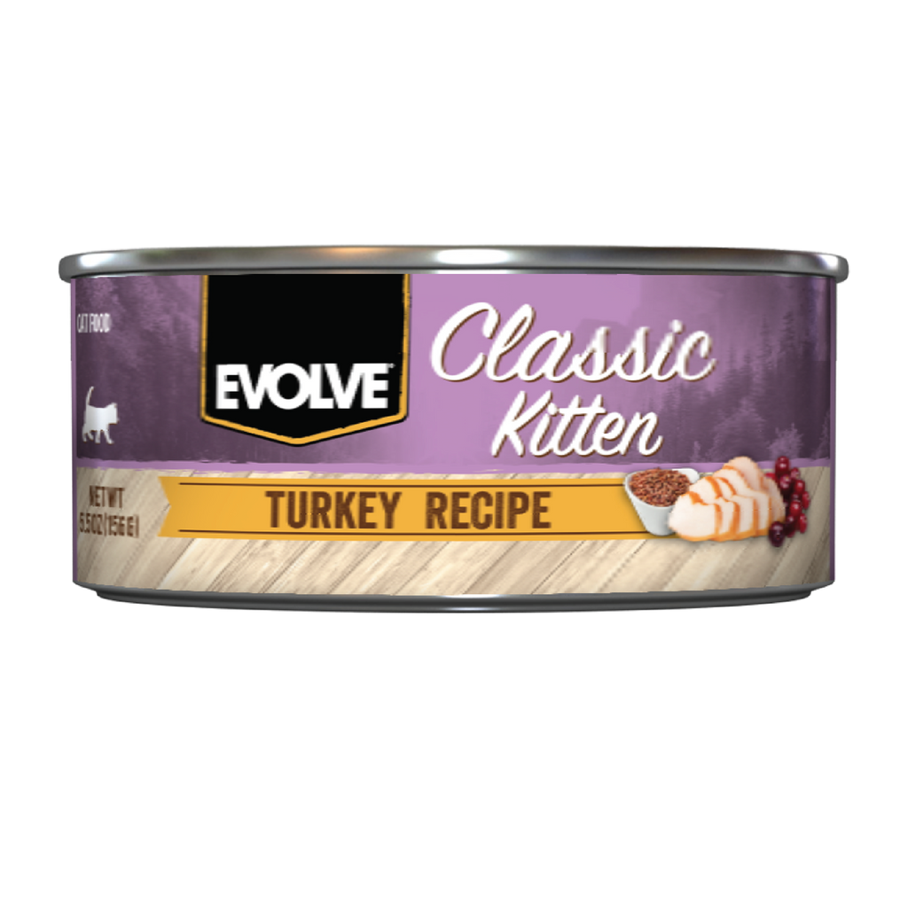 Evolve Classic Kitten Turkey Recipe Cat Food