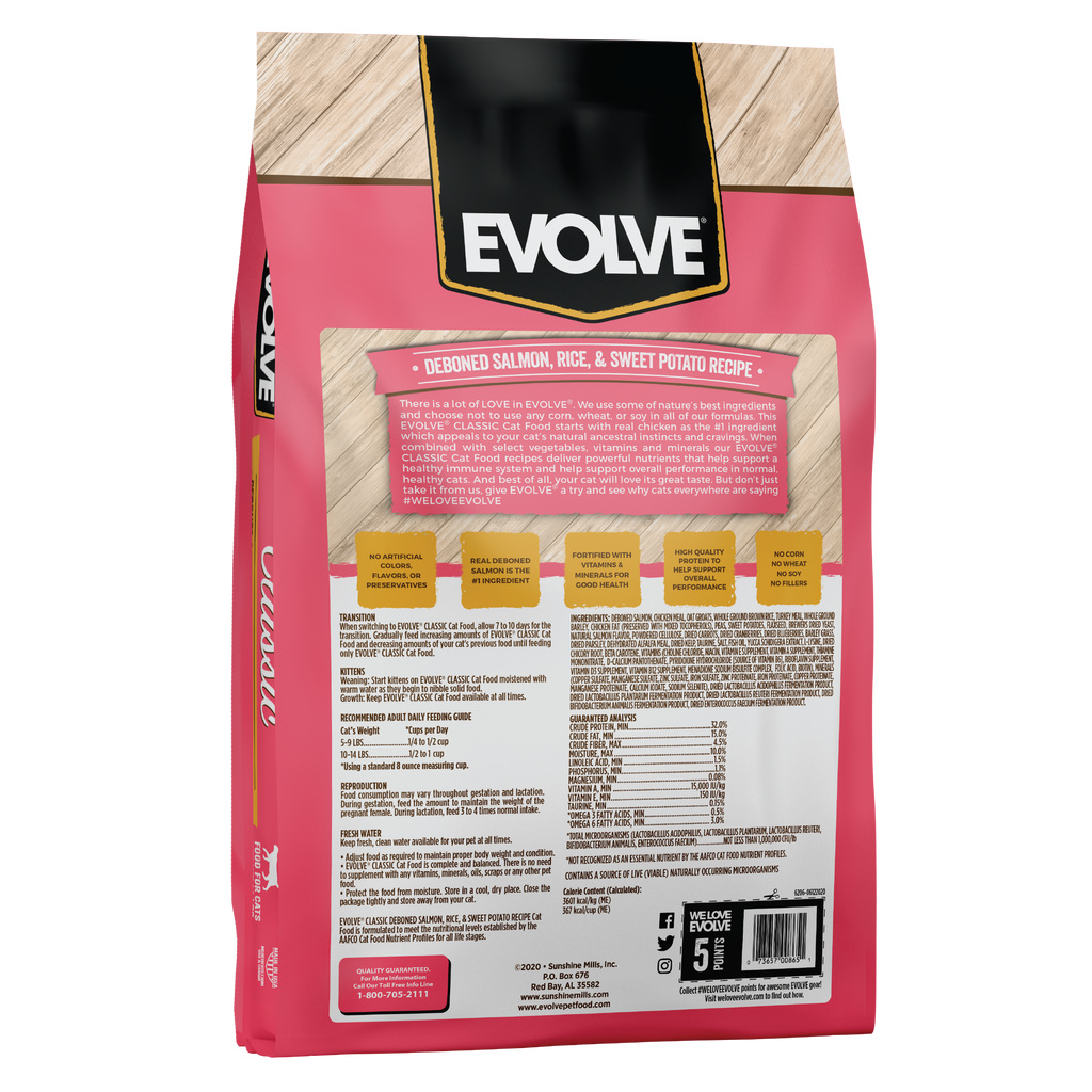 Evolve Classic Salmon, Rice & Sweet Potato Recipe Cat Food