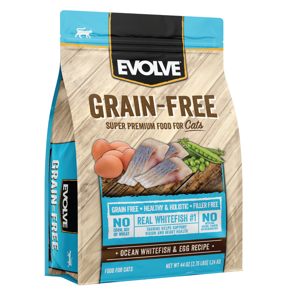 Evolve Grain Free Ocean Whitefish & Egg Recipe Cat Food