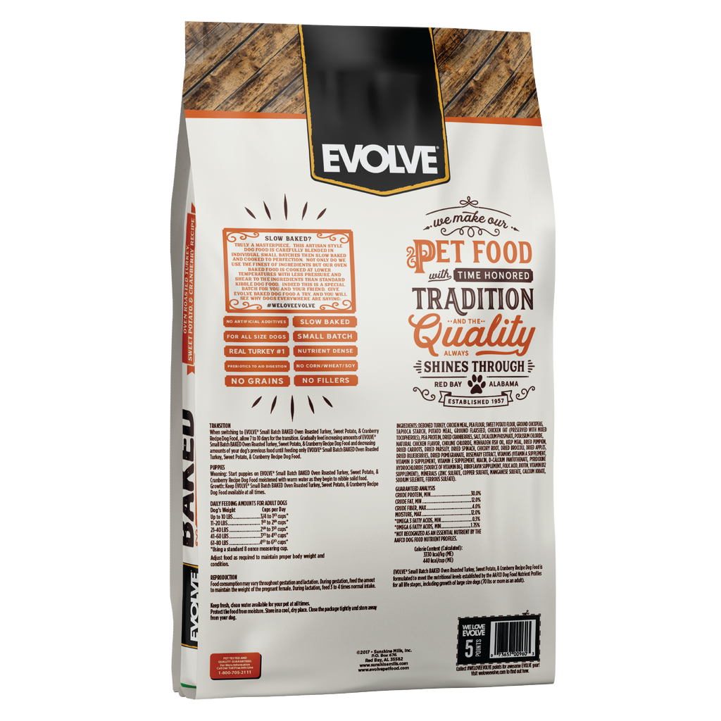 Evolve BAKED Turkey, Sweet Potato, & Cranberry Recipe Dog Food