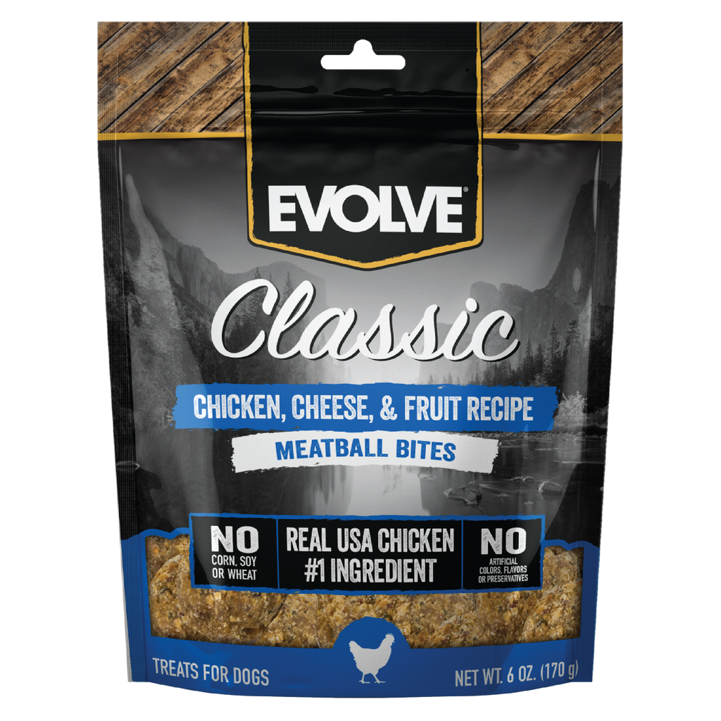 Evolve Classic Chicken, Cheese, & Fruit Recipe Meatball Bites