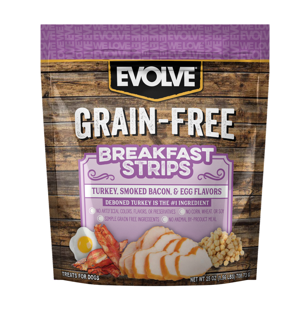 Evolve Grain Free Breakfast Strips Dog Treats