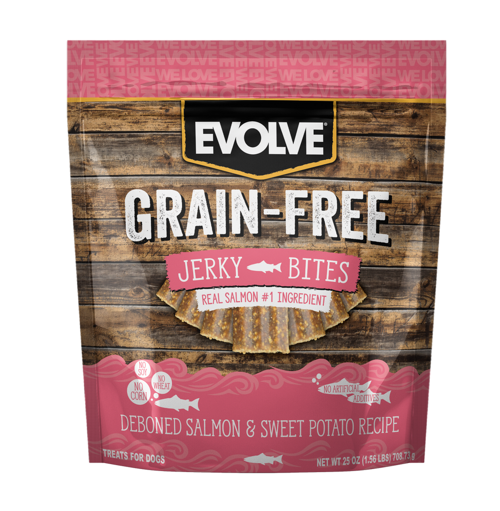 Evolve Grain Free Salmon & Sweet Potato Recipe Jerky Bites