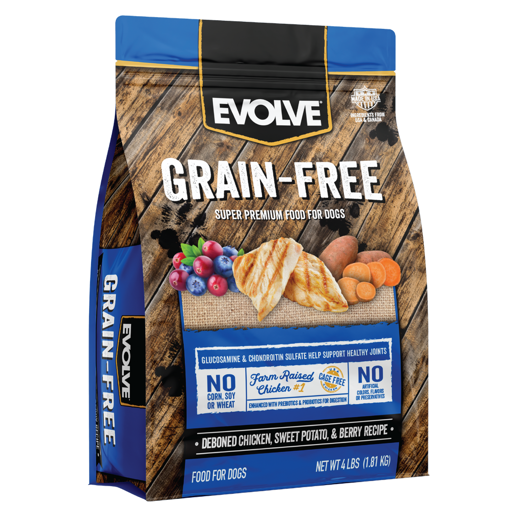 Evolve Grain Free Deboned Chicken, Sweet Potato & Berry Recipe Dog Food