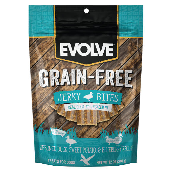 Evolve Grain Free Duck, Sweet Potato & Blueberry Recipe Jerky Bites