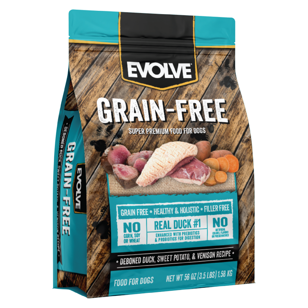 Evolve Grain Free Duck, Sweet Potato & Venison Recipe Dog Food