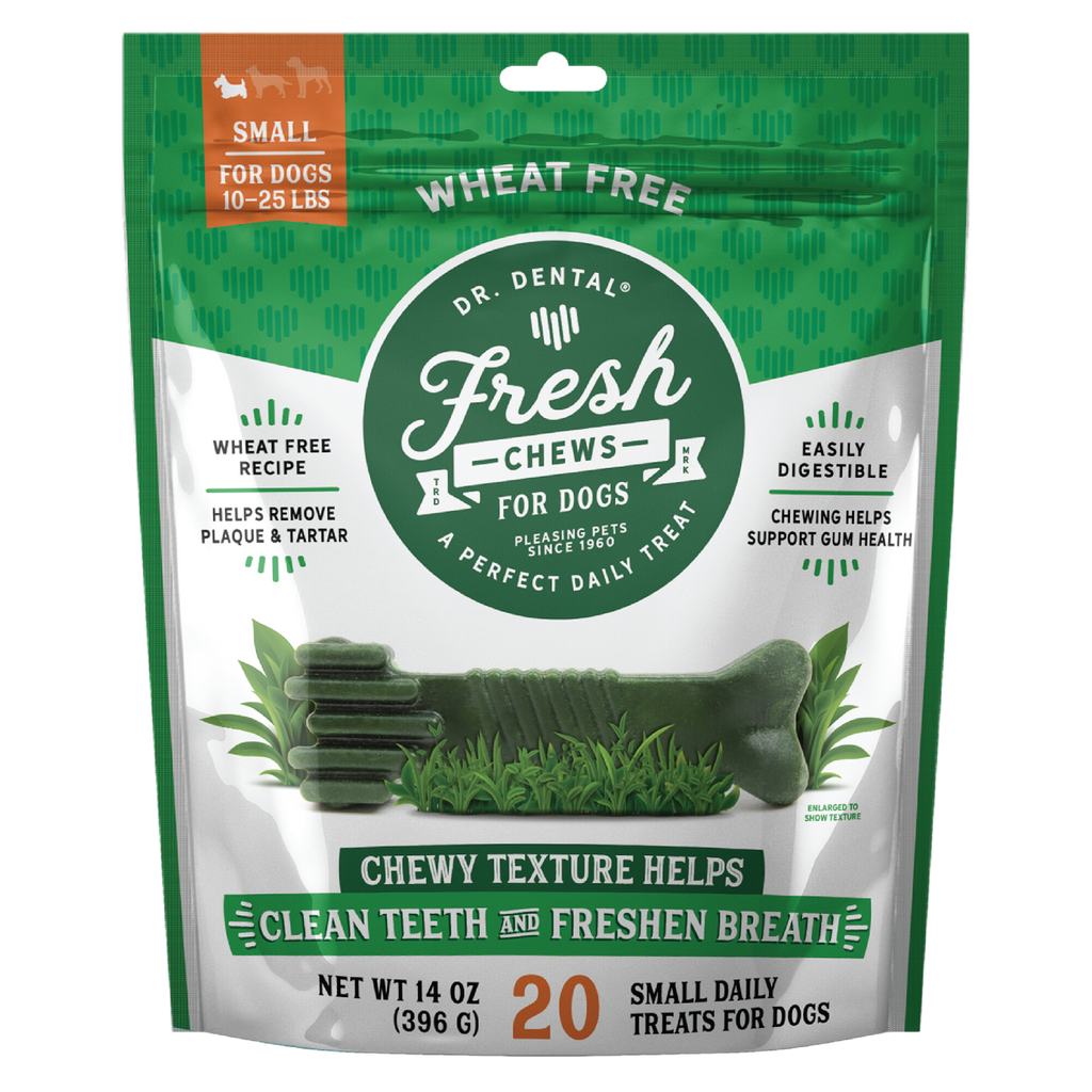 Dr. Dental Fresh Chews Small Dental Dog Treats, 20ct
