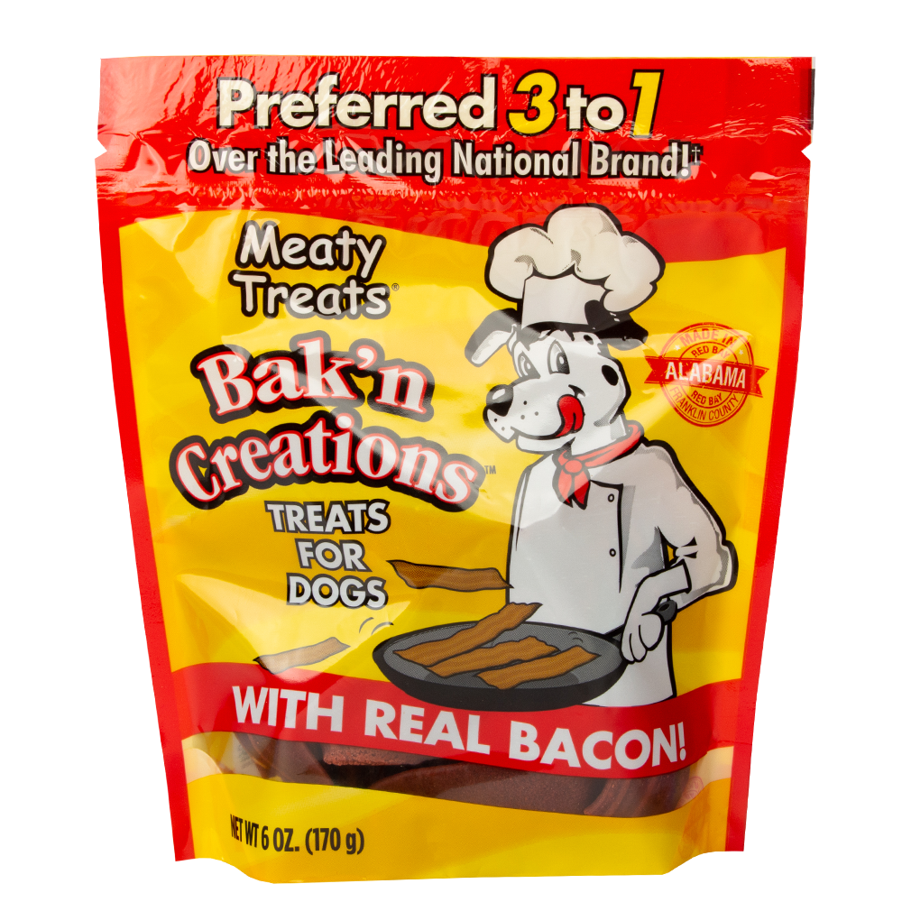 Meaty Treats Bak'n Creations Bacon Dog Treats