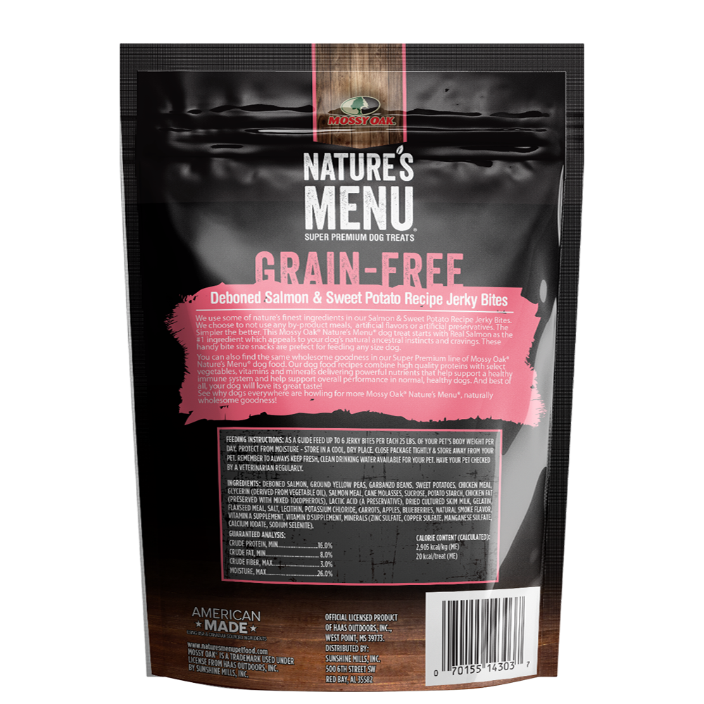 Mossy Oak Nature's Menu Grain Free Jerky Bites - Salmon